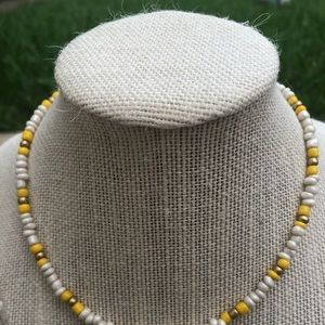 Jewelry - Yellow and Gold Beaded Necklace